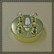 chandelier 3 4 way triple quad antique brass chrome hook cap
