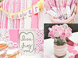 kitty themed california bridal shower with girly pink rose table