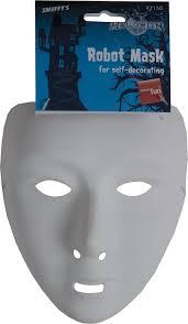 faceless mask halloween amazon com u0027s halloween robot mask clothing