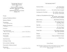 sle of wedding ceremony program wedding ceremony program wording non religious wedding