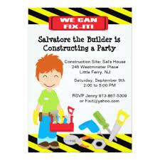 tool birthday party invitations u0026 announcements zazzle com au