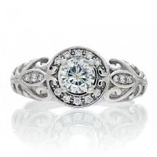 moissanite vintage engagement rings solitaire moissanite halo vintage engagement ring antique