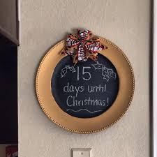 diy countdown until christmas dollar tree plate hobby lobby