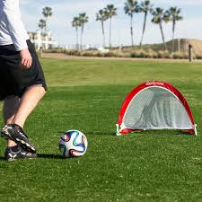 amazon com gosports portable pop up soccer goal set of 2 red
