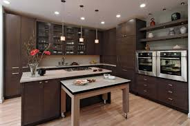 recycled countertops kitchen island with pull out table lighting