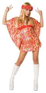 Studio 54 Halloween Costumes Womens Ladies 60s 70s Retron Hippie Hippy Groovy Fancy Dress