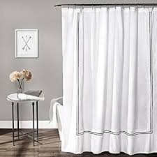 White Shower Curtains Lush Decor Hotel Collection Shower Curtain 72 By 72