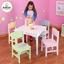 kidkraft nantucket 4 piece table bench and chairs set kidkraft nantucket table 4 pastel chairs wantitall