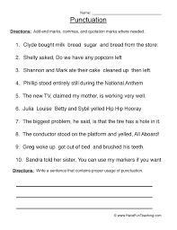 punctuation worksheet 4