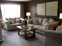 tan gray living room traditional carpet grey wall color black