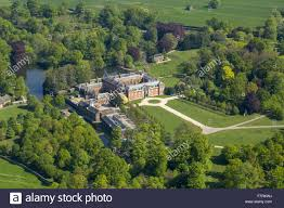 an aerial view of dunham massey is the stamford military hospital