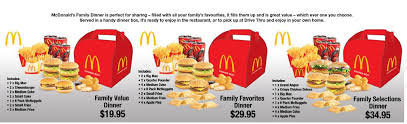 mcdonalds to offer family meals in australia or bad