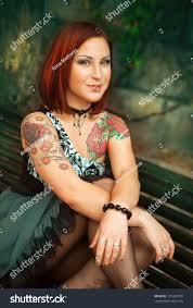 portrait woman tattoo on her stock photo 131443733 shutterstock