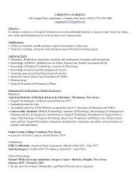 surgical tech resume cover letter examples top dissertation