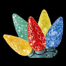 home accents 100 light led multi color faceted c6 lights