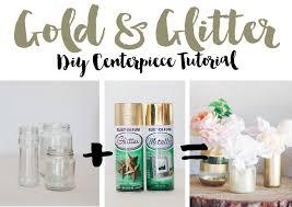 Diy Plastic Bottle Vase Diy Gold And Glitter Vases Tutorial