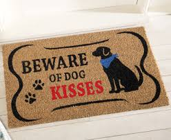 Coco Doormat Beware Of Dog Kisses