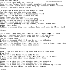 peter paul and mary song home on the range lyrics