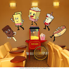 home theater nashua nh candy box dancing movie snacks wall decal home theater decor