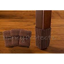 table leg floor protectors amazon com wislife brown chair socks with non slip stripes inside