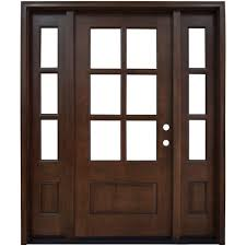 Home Depot Prehung Interior Doors Steves U0026 Sons 60 In X 80 In Savannah 6 Lite Stained Mahogany