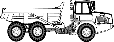 classical clipart dump truck pencil and in color classical