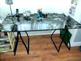 bureau dessus verre plateau verre trempe bureau trempac map 8mm bim a co