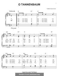 o christmas tree for piano by folklore sheet music on musicaneo