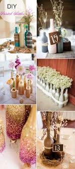 wine bottle wedding centerpieces indulging style diy network in animal party wedding centerpiece