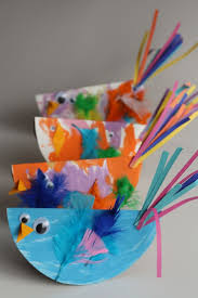 paper plate bird craft for kids easy and so cute happy
