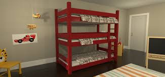 Plans For Building Triple Bunk Beds by Extraordinary Triple Decker Bunk Bed Plans Photo Design Ideas