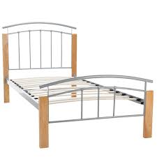 tetras silver bed frame next day select day delivery