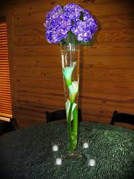 Dark Purple Vase Decoration Comely Wedding Dining Table Decoration With Rose