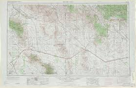 Arizona City Map by Silver City Topographic Maps Nm Az Usgs Topo Quad 32108a1 At 1