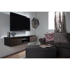 Wall Mounted Entertainment Console South Shore Agora Chocolate And Zebrano Media Storage 9028676