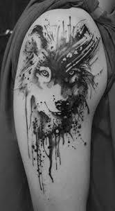 beautiful wolf shortlist tattoos