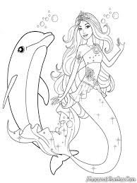 mermaid playing with dolphin coloring page free u0026 printable