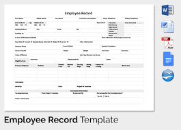 Free Employee Database Template In Excel by Employee Record Templates 32 Free Word Pdf Documents