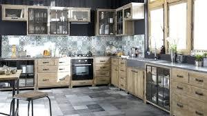 meuble cuisine bois brut esprit atelier dans la cuisine meuble bois brut credence meubles