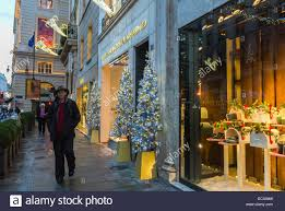 Christmas Decorations For Shop Front by Paris France People Walking Christmas Decorations Shopping