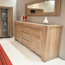 enfilade cuisine cuisine meuble buffet moderne portes chãªne gris trendymobilier