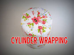gift wrapping how to wrap a cylinder object youtube