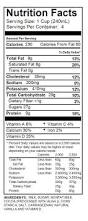 Nutrition Facts For Cottage Cheese by Milks U2013 Shamrock Farms