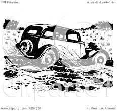 vintage cars clipart clipart of a vintage black and white vintage car driving through