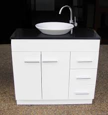 euro wp900sdr 900mm polyurethane vanity with stone top and round