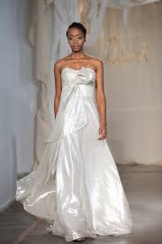 strapless grecian inspired a line wedding dress