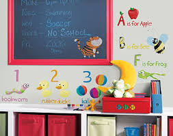 Removable Wall Stickers And Borders Peel And Stick Letters - Alphabet wall decals for kids rooms