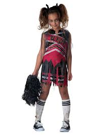 Skeleton Halloween Costume Kids Spiritless Cheerleader Child Costume