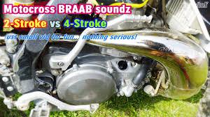 4 stroke motocross bikes motocross braab sound 2 stroke vs 4 stroke rm250 kx250f youtube