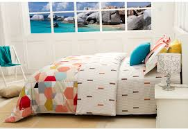 Geometric Duvet Cover Geometric Bedding Comforter Sets Duvet Covers Linen Cotton Orange